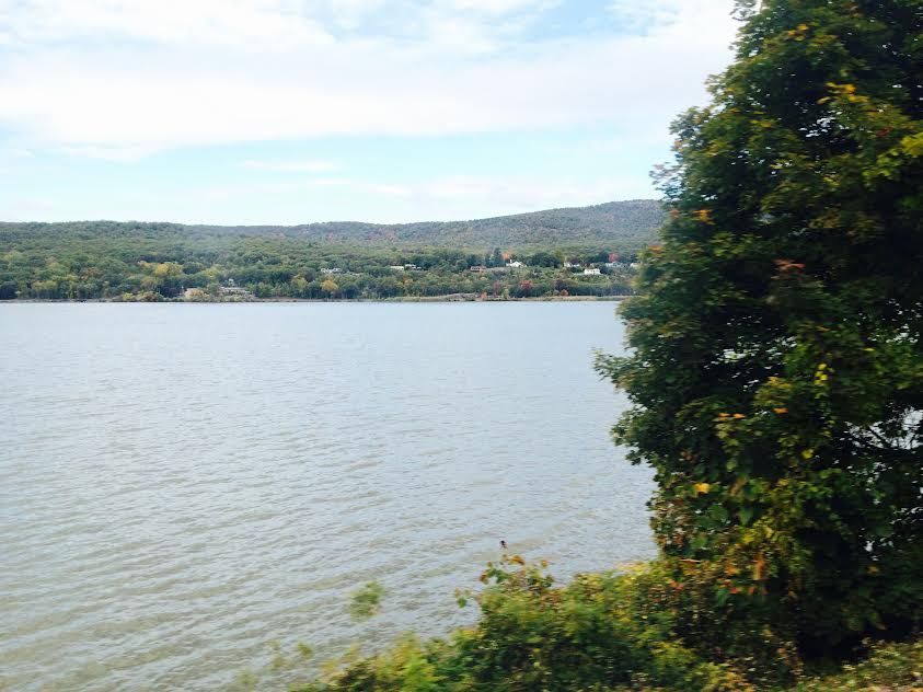 My view of the Hudson from the MetroNorth train