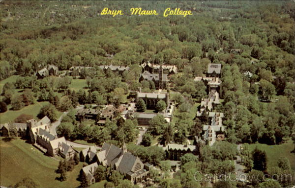 Aerial View Of Bryn Mawr College